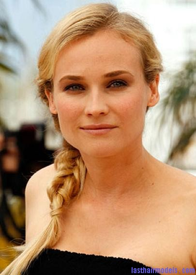 diane kruger side ponytail braid Diane Kruger's 'Y' shaped messy plait: Styling is fun!