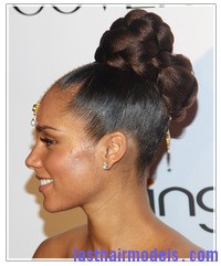 hairstyle ideas plaits and braids alicia keys braided bun Crest blob hairstyle.