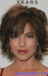 julie pinson 191x300 Short Shag Hairstyle