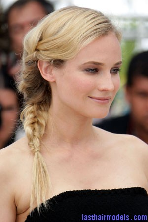 kruger blog Diane Kruger's 'Y' shaped messy plait: Styling is fun!