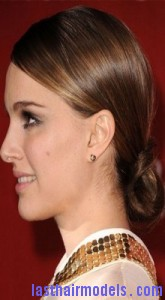 natalie portman41 165x300 Natalie Portmans Looped Ponytail