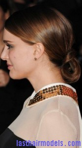 natalie portman8 167x300 Natalie Portmans Looped Ponytail