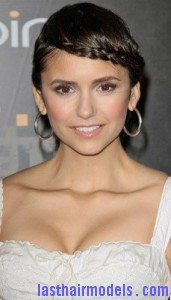 nina dobrev 171x300 Swedish Braid Hairstyle