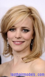 rachel mcadams42 175x300 Hairstyle with Wispy Bangs