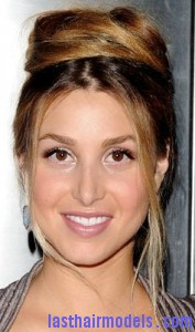 whitney port1 177x300 Bouffant Bun