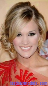 carrie underwood 170x300 Tendril Hair Bun