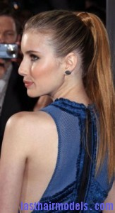 emma roberts2 163x300 Emma Roberts Equestrian Ponytail