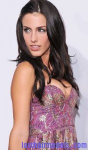 jessica lowndes2 177x300 Pinning Up One Side Hair