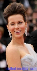 kate beckinsale2 157x300 Bouffant Updo