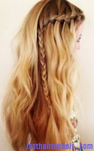 waterfall braid 186x300 Waterfall Braid With Curls