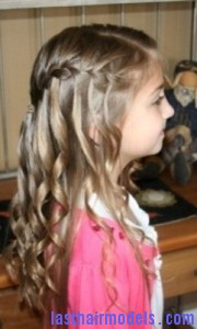 waterfall braid3 180x300 Waterfall Braid With Curls