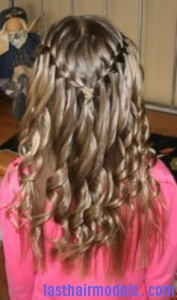 waterfall braid4 177x300 Waterfall Braid With Curls