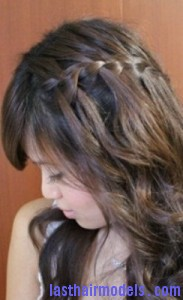waterfall braid6 183x300 Waterfall Braid With Curls