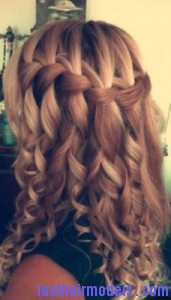 waterfall braid8 171x300 Waterfall Braid With Curls