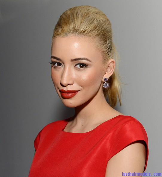 Christian+Serratos+Makeup+Red+Lipstick+30VSbZALhIhl  Poofs and ponytails:  Glorious and gorgeous!