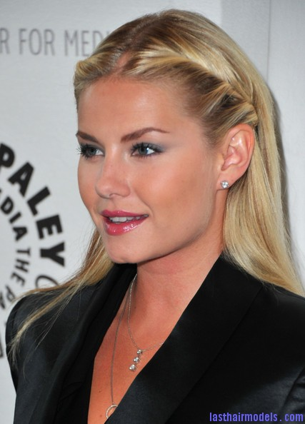 Elisha+Cuthbert+Makeup+Pink+Lipstick+a4stoY98U26l Elisha Cuthberts pencil roll hairstyle: Center partitioned hairstyle!