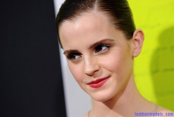 Emma+Watson+Makeup+Red+Lipstick+mIvLg7D0lbGl Emma Watsons tight ballerina bun: Looking as polished as ever!