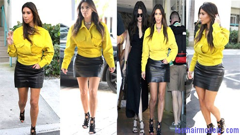 Kim Kardashian admits style mishap Kim's simple straight loose hair: Center partitioned sleekness!