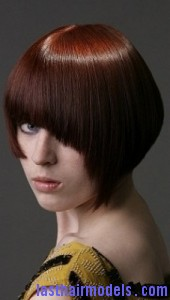 asymmetrical wedge2 170x300 Asymmetrical Wedge Hairstyle