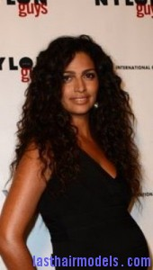 camila alves2 170x300 Camila Alves With Rag Curls
