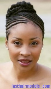 cornrow bun8 173x300 Cornrow Bun Hairstyle