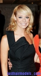 liz mcclarnon3 162x300 Liz McClarnon With Angled Bangs