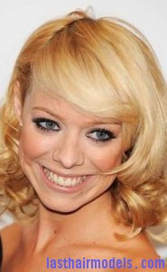 liz mcclarnon4 185x300 Liz McClarnon With Angled Bangs