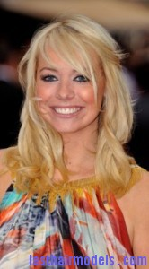 liz mcclarnon8 166x300 Liz McClarnon With Angled Bangs
