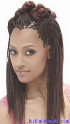 Single Braids With Natural Hair