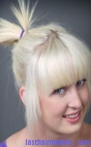 spiky ponytail