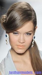 front twist ponytail