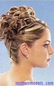 pin curl updo