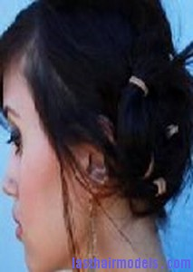 rubber band updo2