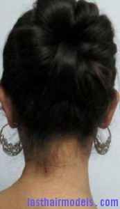 rubber band updo8