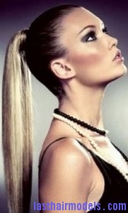 slick ponytail 181x300 Hairstyle With Slick Ponytail