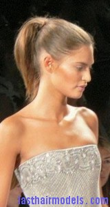 slick ponytail3 160x300 Hairstyle With Slick Ponytail