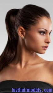 slick ponytail5 172x300 Hairstyle With Slick Ponytail