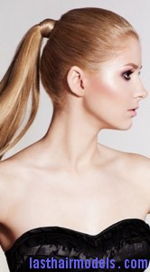 slick ponytail7 166x300 Hairstyle With Slick Ponytail