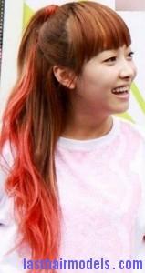 streaked ponytail5