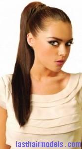 wrap ponytail