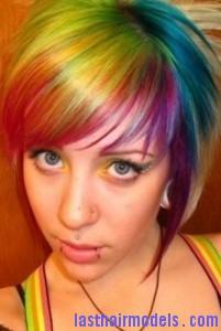 rainbow hairtyle