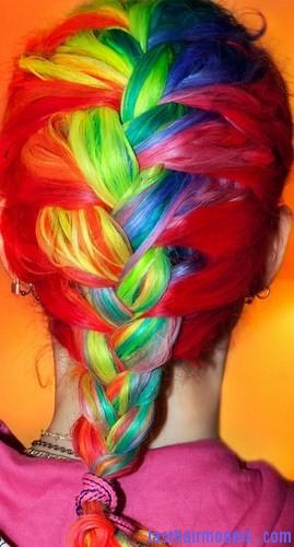 Rainbow French Braid2 Last Hair Models Hair Styles