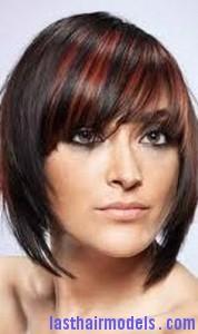 streaked bangs