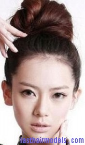 asian hair bun