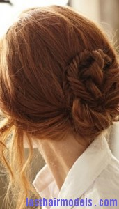 low braided chignon8