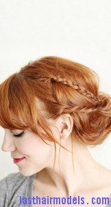 side braided chignon8