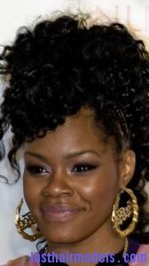 curly weave mohawk