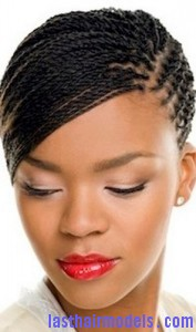 A woman with a classic braid style.
