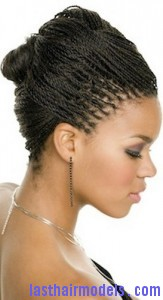 A woman with a glamorous braid style.