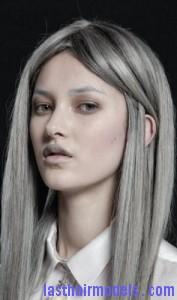 silvery gray hair8